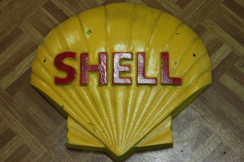 "Large Cast Iron "" Shell "" Wall Plaque"