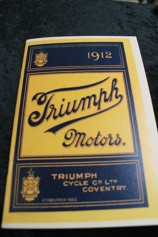 1912 - Triumph Motors Booklet