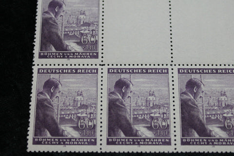 1942 - German Occupation Stamp Block