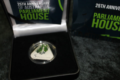 2013 -Silver  5 Dollar 25th of Parliament House Proof Coin