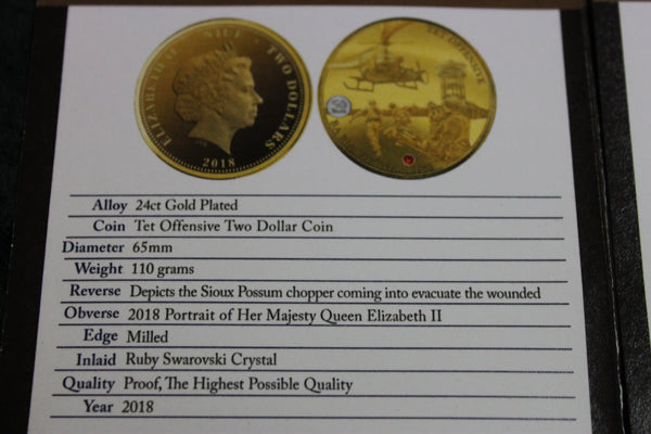 Tet Offensive Gold Proof Coin - Number 19 of 599