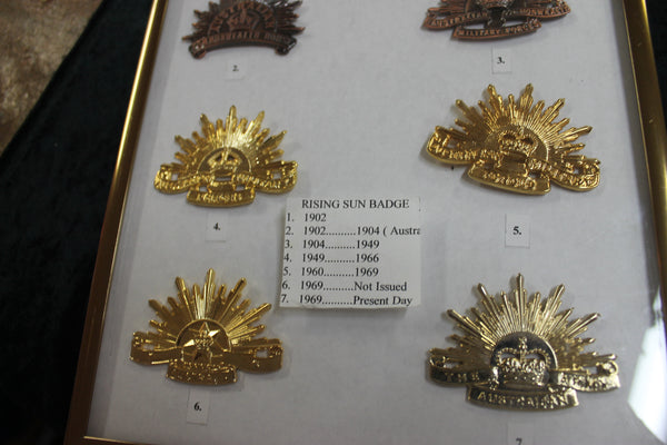 Rising Sun Badge Display