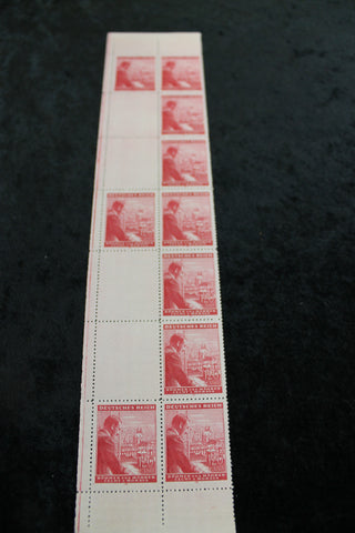 German Occupation 53rd Birthday Stamp Block