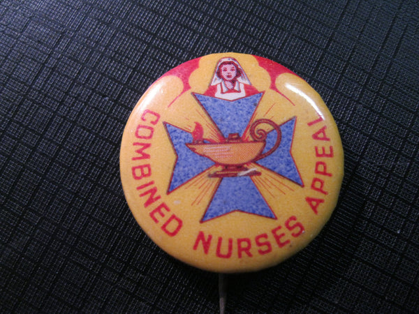 Vintage QLD Nursing Button Badge