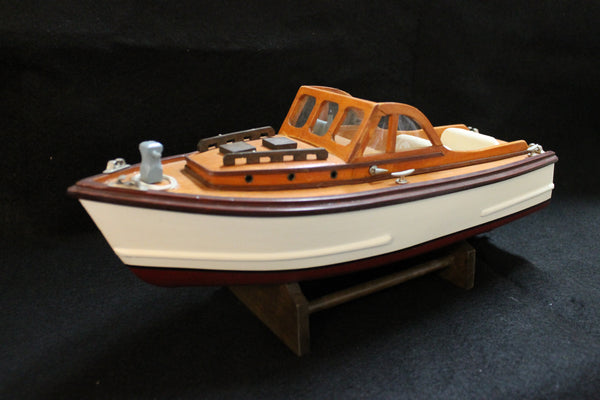 Wooden Speedboat Model