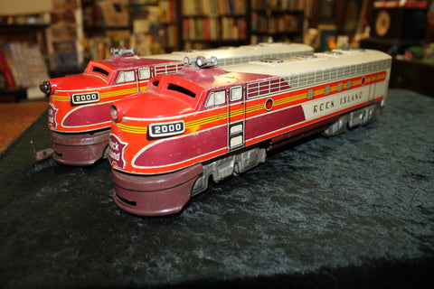 Tinplate - O Gauge Rock Island Diesel Locomotive