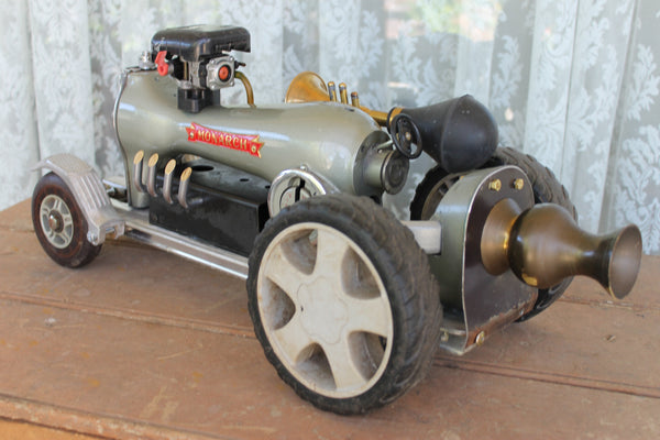 Vintage Race Car Recycled Art