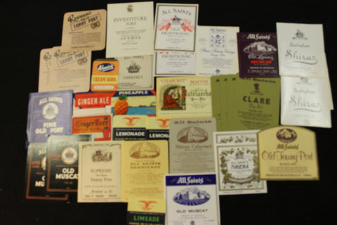 Small Lot of Bottle Labels