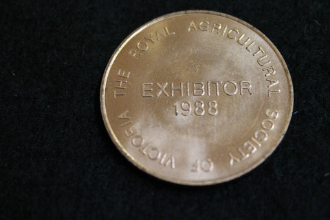 1988 - Victoria Agricultural Show Exhibitor Medal