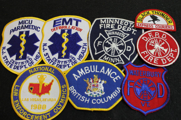 8 - Assorted US Community Service Patches
