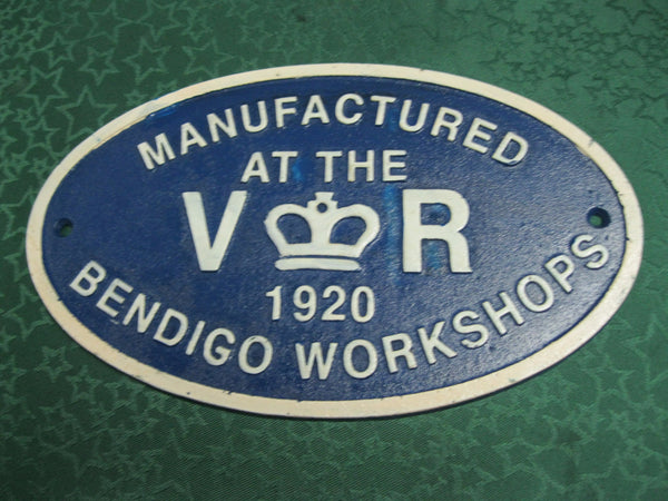 Bendigo Workshops Makers Plate