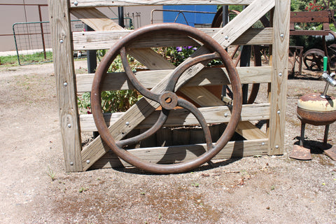 Large Vintage Cast Iron Wheel