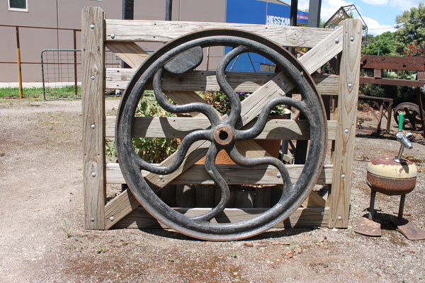 Large Ornate Pulley Wheel