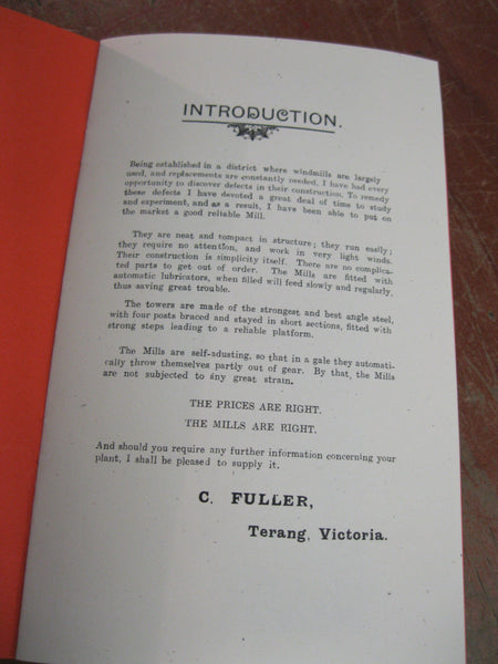C.Fuller Terang Windmill Catalogue