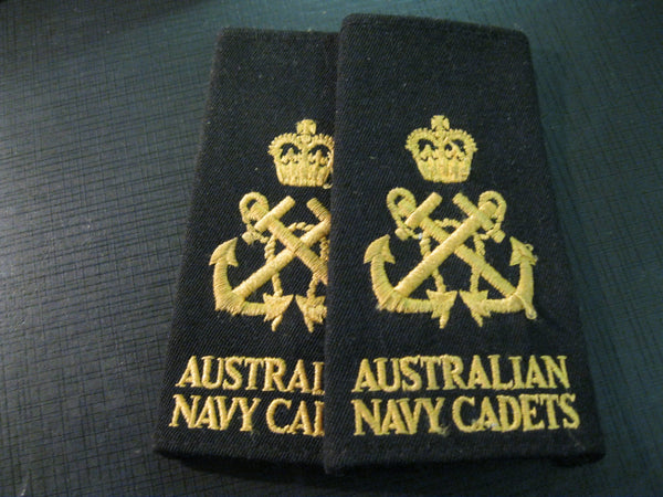 Aus Naval Cadet Shoulder Slip Titles