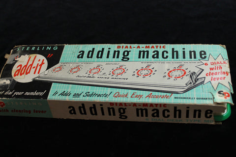 1950 - Dial - A - Mattic Adding Machine