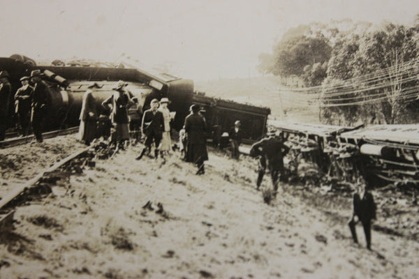 1910 - Victorian Railway Train Derailment Photo Card