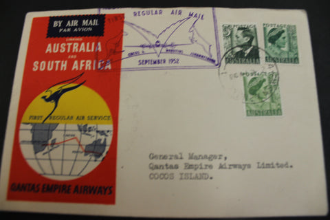 1952 - Australian / South Africa Flight Cover