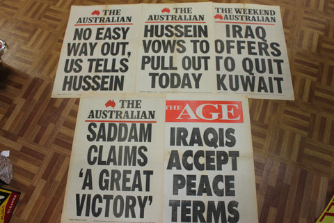 1991 Gulf War 1 - Newspaper Posters