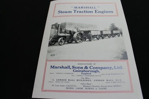 """ Marshall "" Steam Traction Engines"