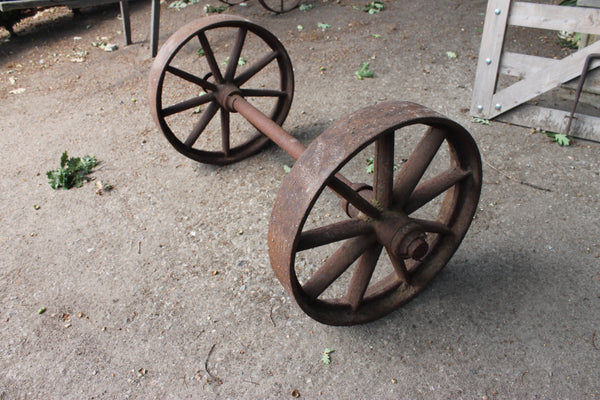 Heavy Duty Cast Iron Wheel Set