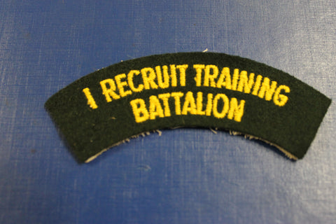 1 Recruit Training Battalion Shoulder Title