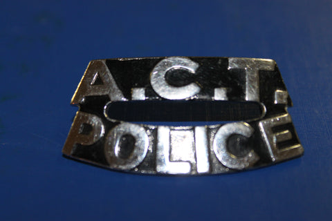 ACT Police Shoulder Title Badge