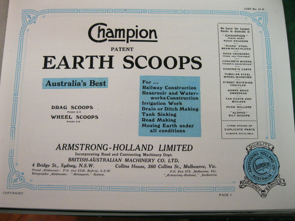 Champion Earth Scoops Catalogue