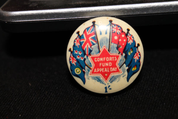Comforts Fund Appeal Day Button Badge
