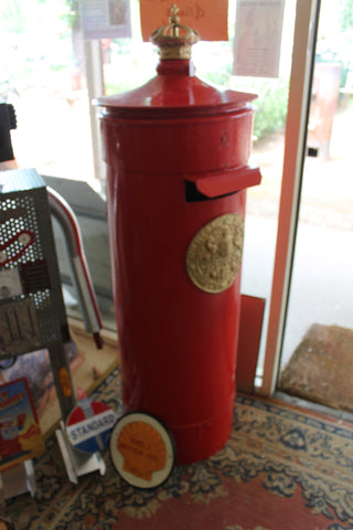 Red Pillar Mail Box