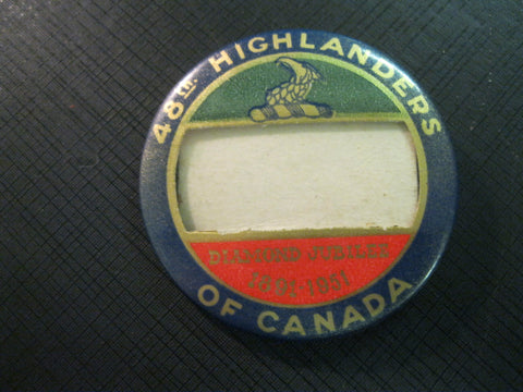 1951 - Canadian 48th Highlanders Badge