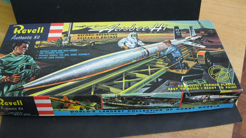 1958 - 1st Issue Revell Aerobee Rocket Kit.
