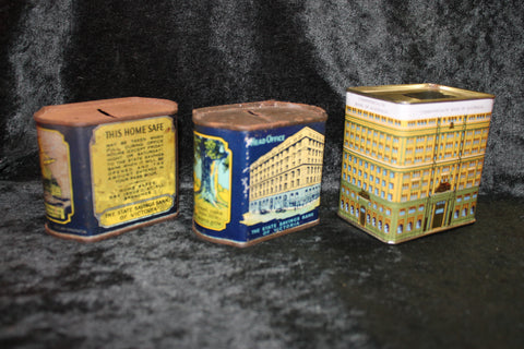3 - Vintage Bank Money Boxes