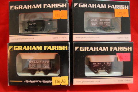 "4 - ""N"" Gauge Wagons , New Boxed"