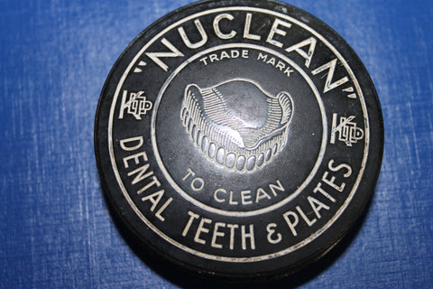 "Scarce - "" Nuclean "" Bakelite Dental Cleaner Container"
