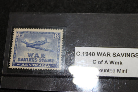 WW2 - Australian 6d War Savings Stamp MUH