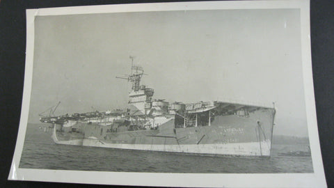 Original WW2 Aircraft Carrier Photo.
