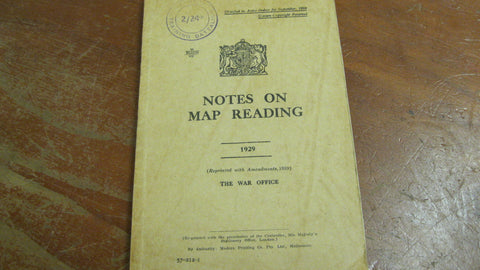 Aus 1929 - Notes on Map Reading .