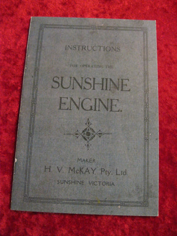 Sunshine Engine Instruction Manual
