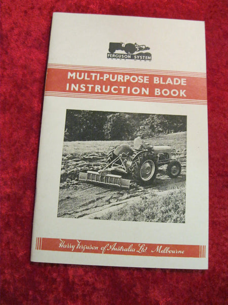 Ferguson Multi-Purpose Blade Instruction Book