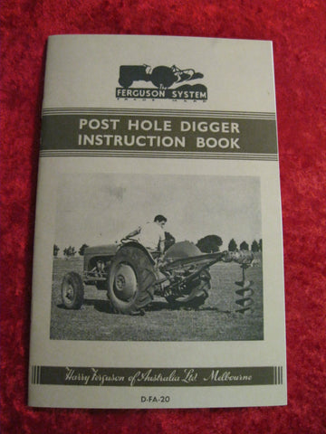 Ferguson Post Hole Digger Instruction Book