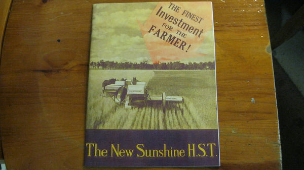 Sunshine Harvester Catalogue .