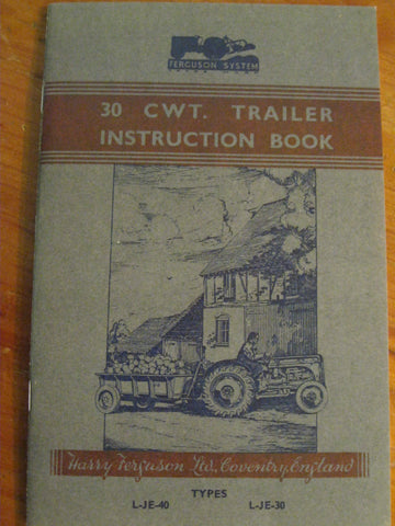 Ferguson 30 CWT Trailer Instruction Book