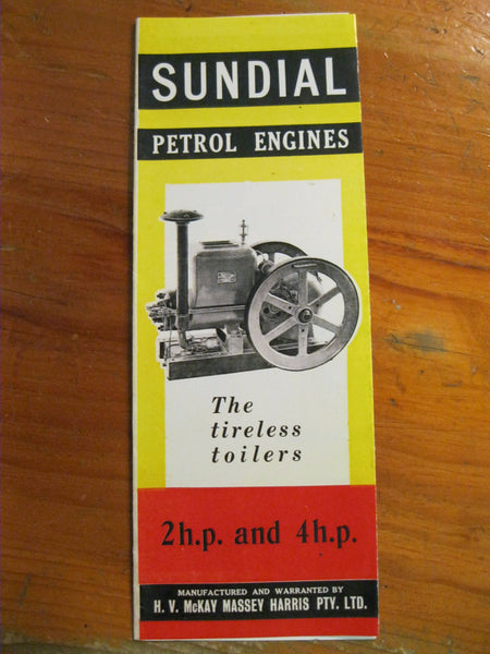 Sundial Petrol Engines Fold Out Pamphlet