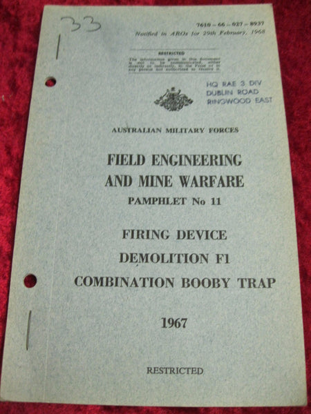 1968 - Field Engineering and Mine Warfare Booklet