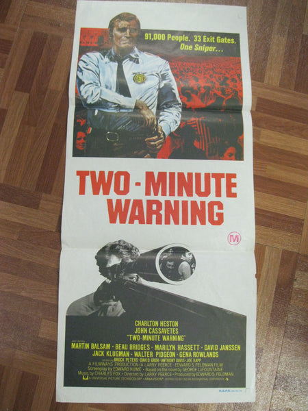 "1976 - "" Two Minute Warning "" Day Bill Poster"