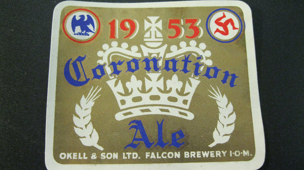 1953 Coronation Beer Label.