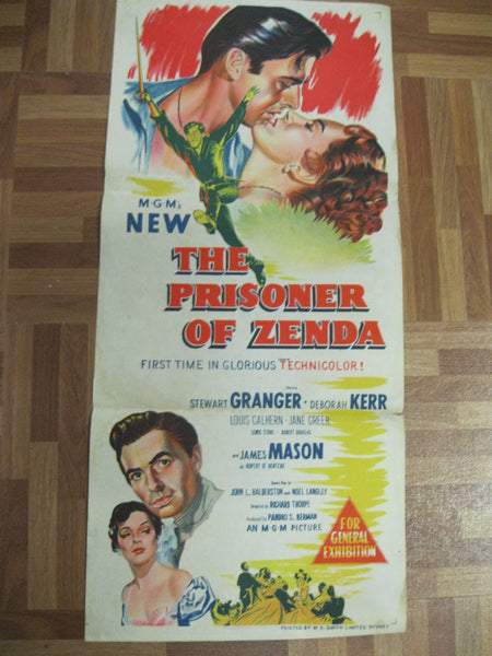 "1952 "" The Prisoner of Zenda "" Australian Poster"