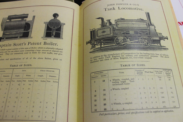 1883 - John Fowler & Co - Mining Engines & Boilers
