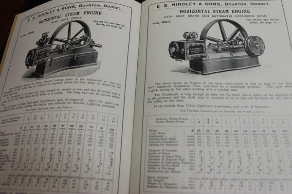 Hindley & Sons Steam Engines ,  Boilers , Saw Benches , Pumps & Lifting Machinery Catalogue